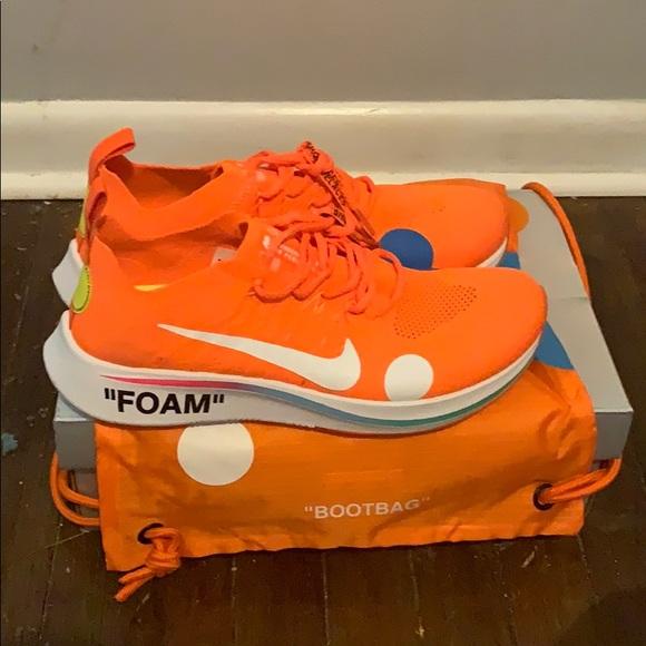 White Nike Zoom Fly Mercurial Orange